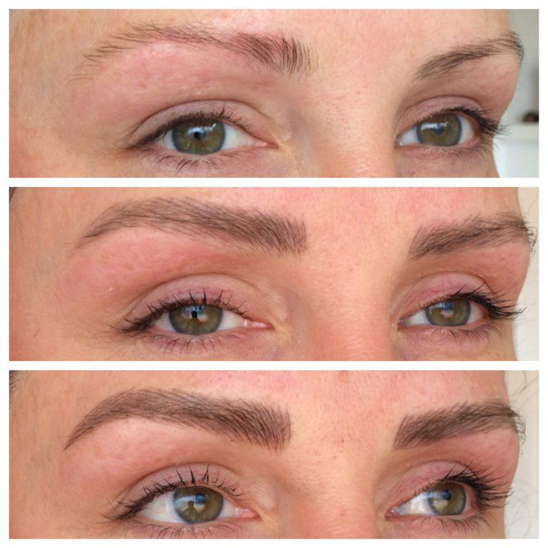 Eyebrows by Ainslie Perth Brow Tattooing Before After & After Touchup