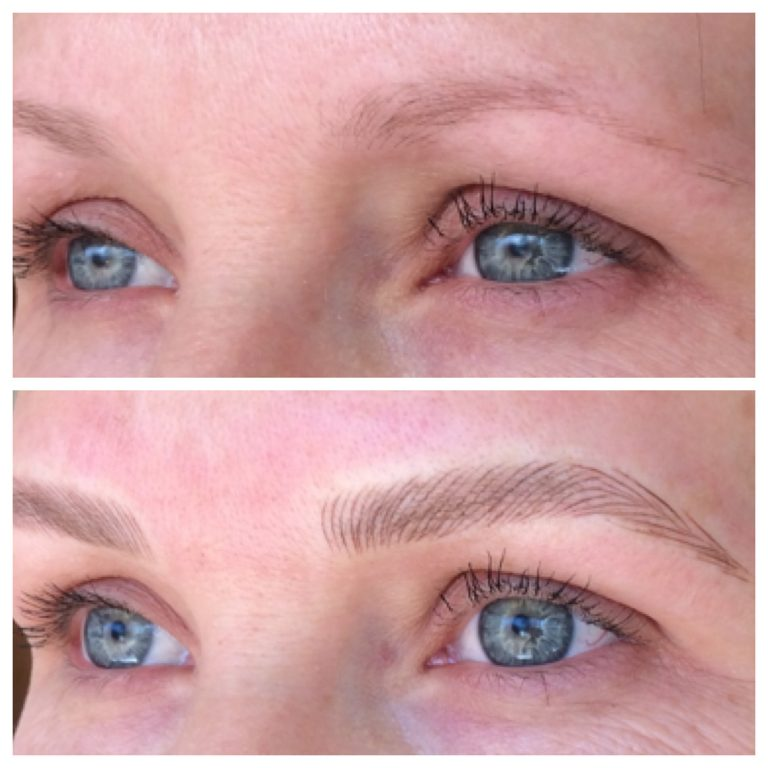 Eyebrows by Ainslie Perth Brow Tattooing Before and After