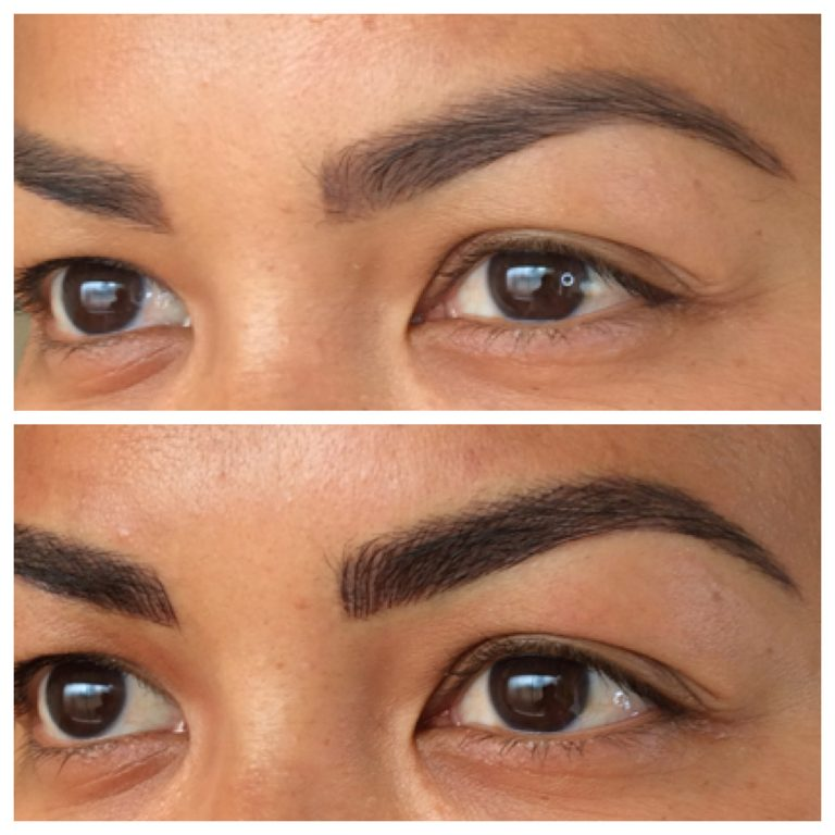 Eyebrows by Ainslie Perth Before and After Feathertouch Touchup