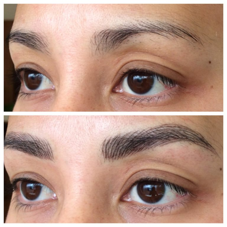 Eyebrows by Ainslie Perth Feathertouch Tattooing Before and After
