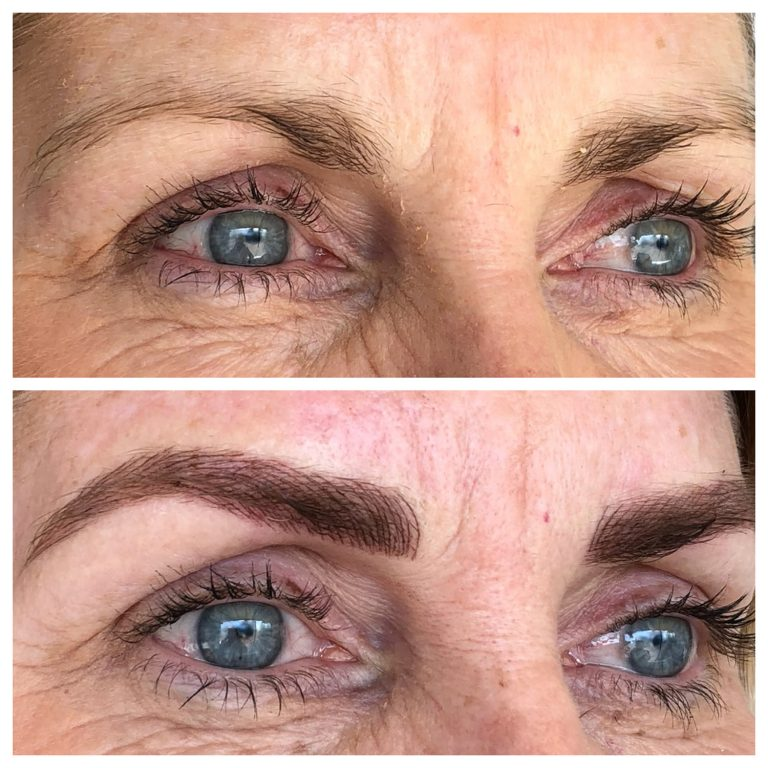 Eyebrows by Ainslie Perth Feathertouch Tattoo Before and After