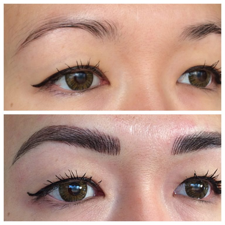 Eyebrows by Ainslie Perth Microblading Before and After